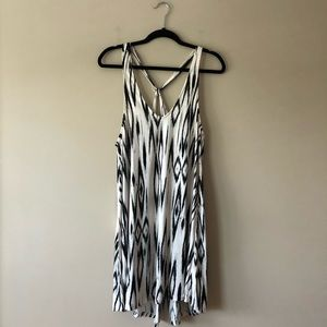 H&M black and white printed dress/cover up